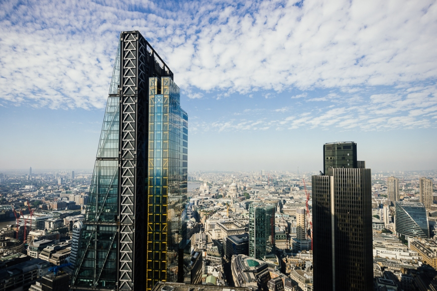 View from The Gherkin (30 St Mary Axe), London, UK