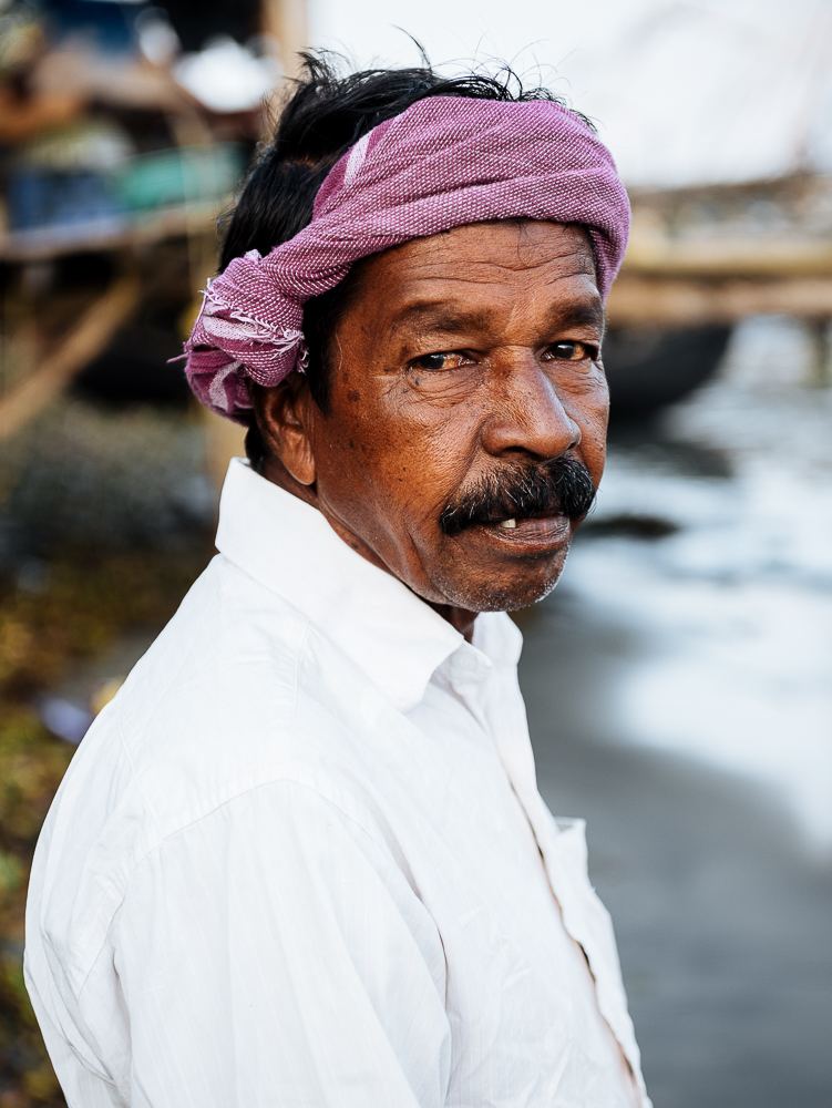 Portrait of fisherman, Fort Kochi (Cochin), Kerala, India