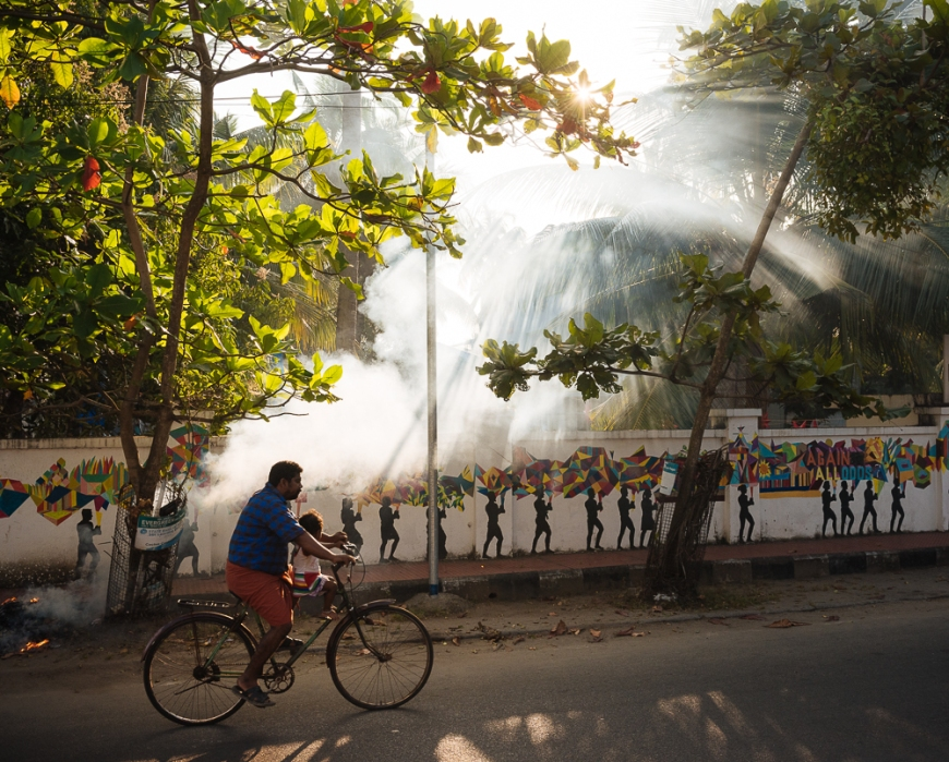 Street scene, Fort Kochi (Cochin), Kerala, India