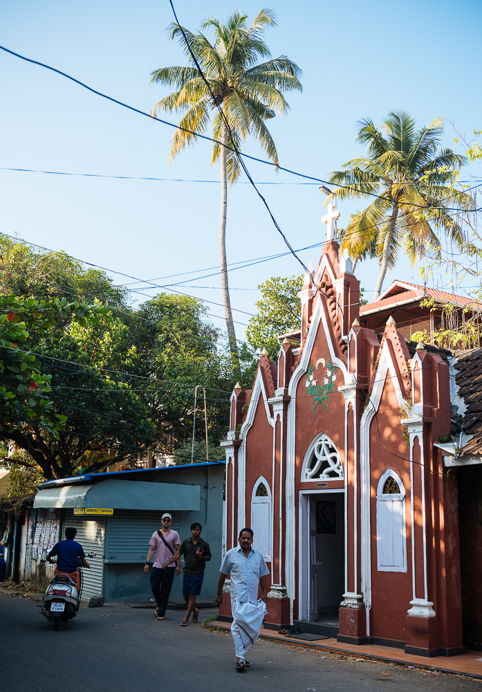 Exterior of church, Fort Kochi (Cochin), Kerala, India