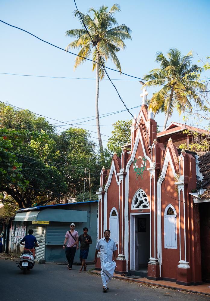 Exterior of church, Fort Kochi (Cochin), Kerala, India