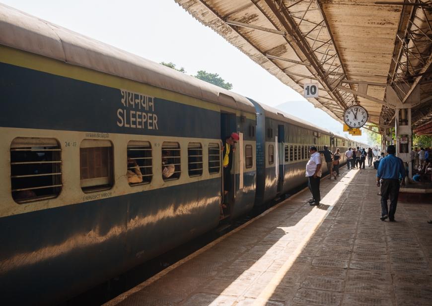 Karwal train station platform, Goa, India