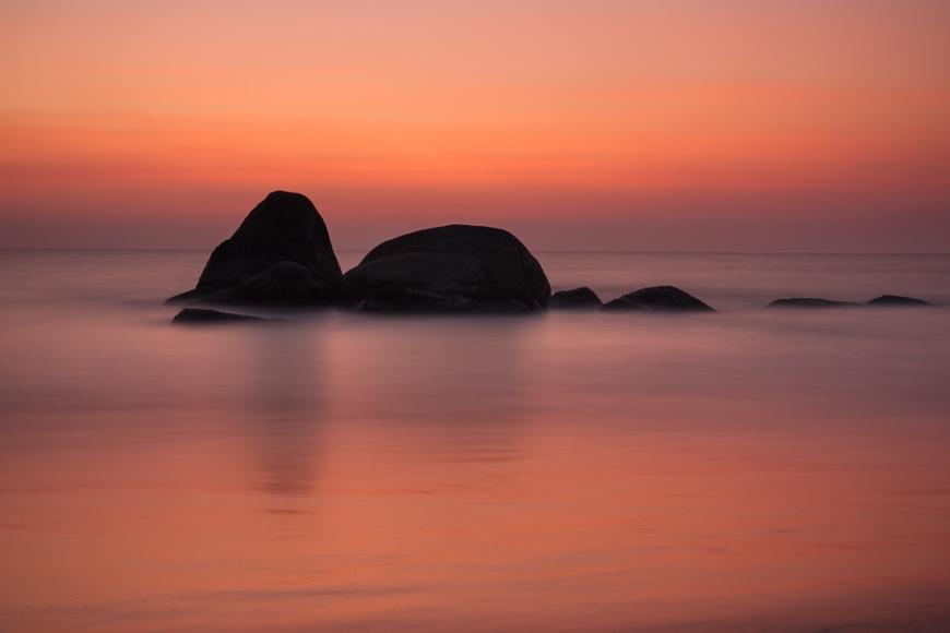 Sunset over Agonda beach, Goa, India