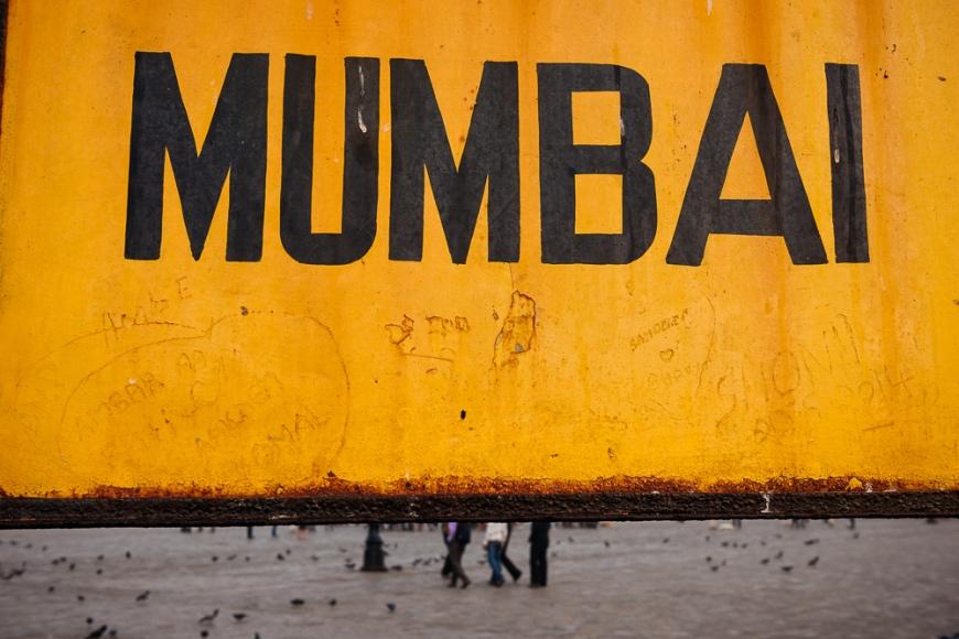 Mumbai signage, India