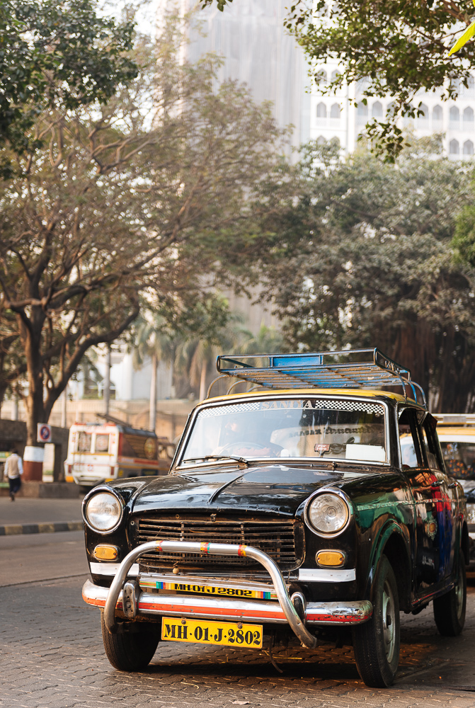 Vintage Taxi, Gateway to India, Mumbai, India
