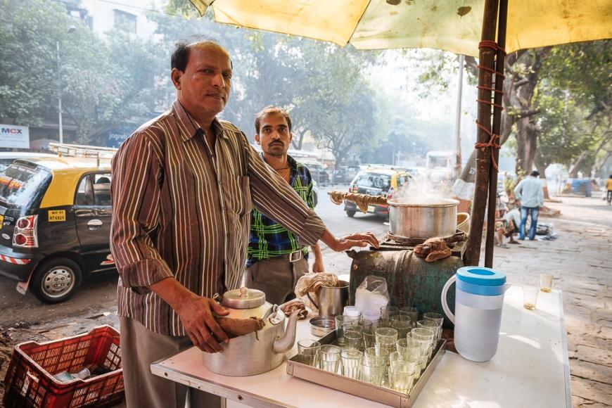 Chai stall, Mumbai, India