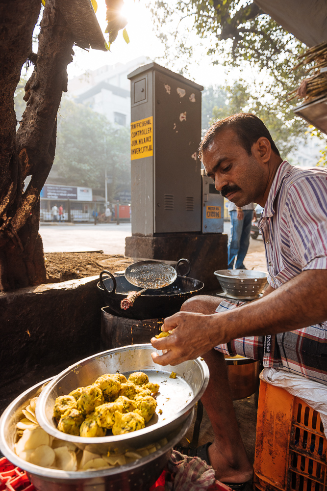 Street food stall, Mumbai, India