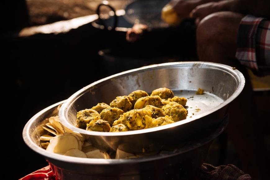 Street food stall, Mumbai, India