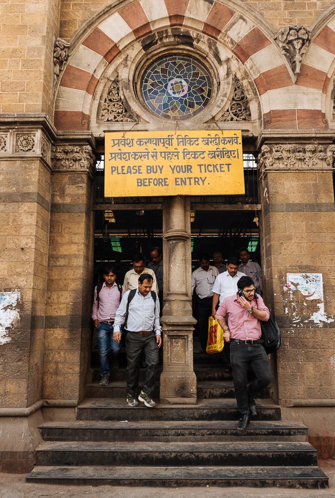 Exterior of Mumbai Chatrapati Shivaji Terminus (Victoria Terminus), Mumbai, India