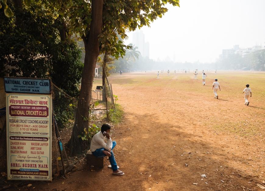 Cricket at Oval Maidan, Mumbai, India