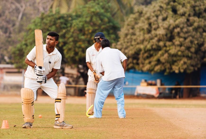 Cricket at Azad Maidan, Mumbai, India