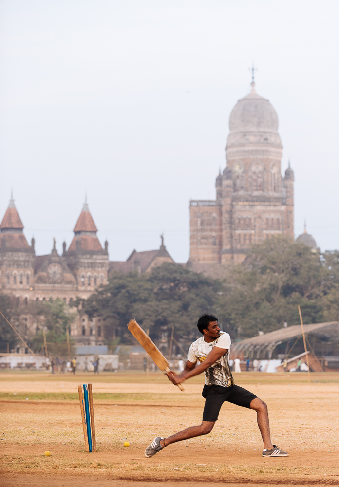 Cricket at Azad Maidan, Mumbai, India