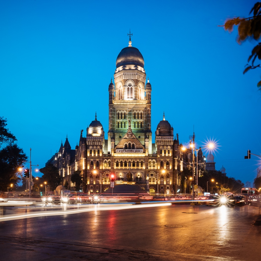 Exterior of Mumbai Municipal corporation building, Mumbai, India