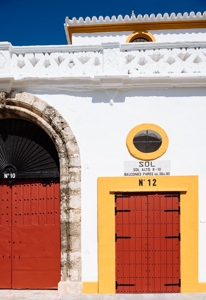 Exterior of 'Plaza de toros de la Real Maestranza de Caballería de Sevilla' (The Bullring), Seville, Andalucia, Spain
