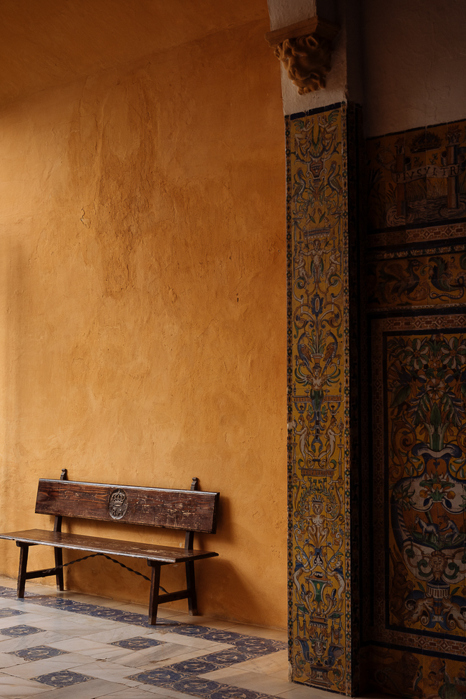 Interior detail of The Royal Alcázar (Palace) of Seville, Seville, Andalucia, Spain