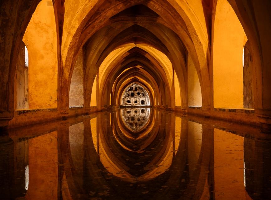 Baños de María de Padilla, Alcázar de Sevilla (Royal Palace of Seville), Seville, Andalucia, Spain