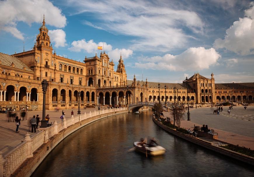 Exterior of Plaza de España, Seville, Andalucia, Spain