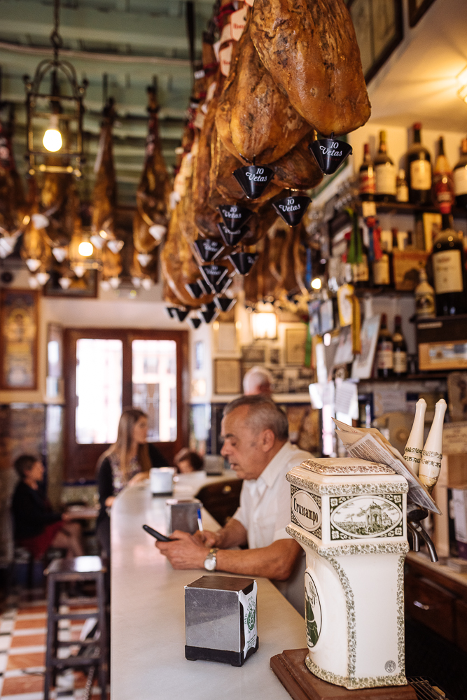 Interior of 'Las Teresas' restaurant, Seville, Andalucia, Spain