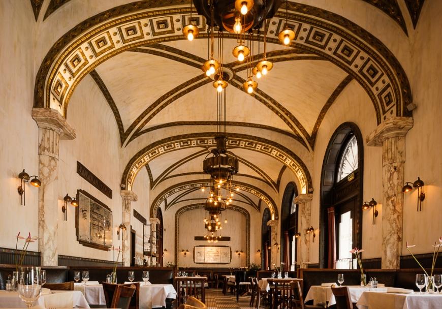 Interior of Callas Cafe, Budapest, Hungary