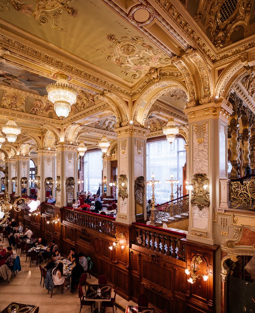 Interior of The New York Kávéház (Cafe), Budapest, Hungary