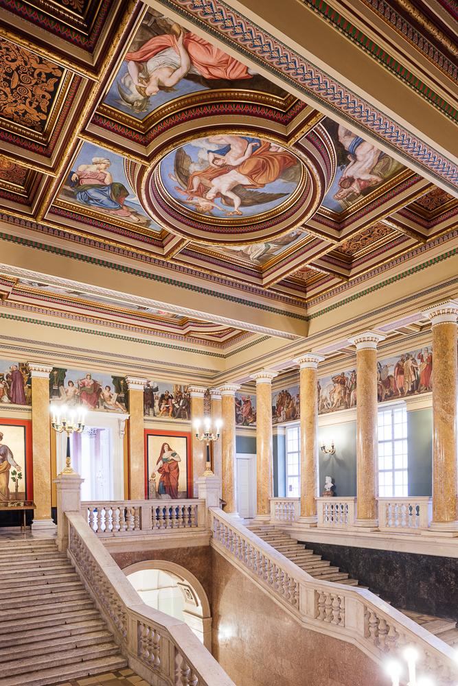 Interior of The Hungarian National Museum, Budapest, Hungary