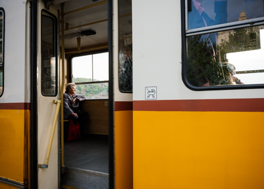 Detail of Tram, Budapest, Hungary