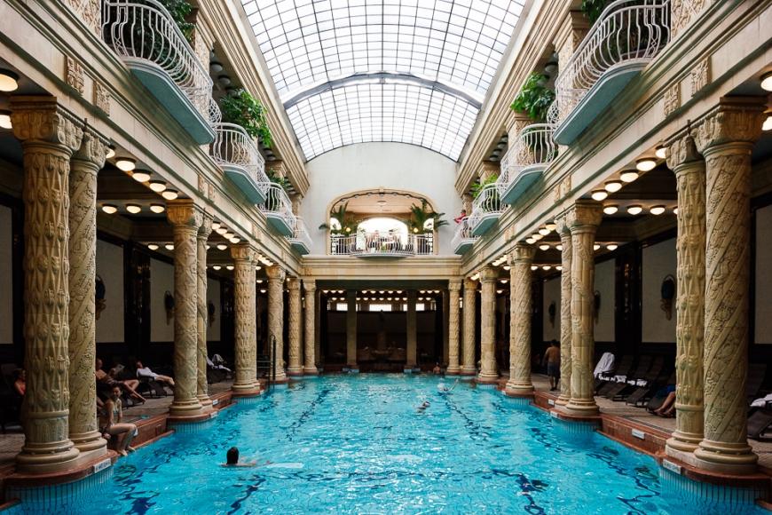 Interior of Gellért Baths, Budapest, Hungary