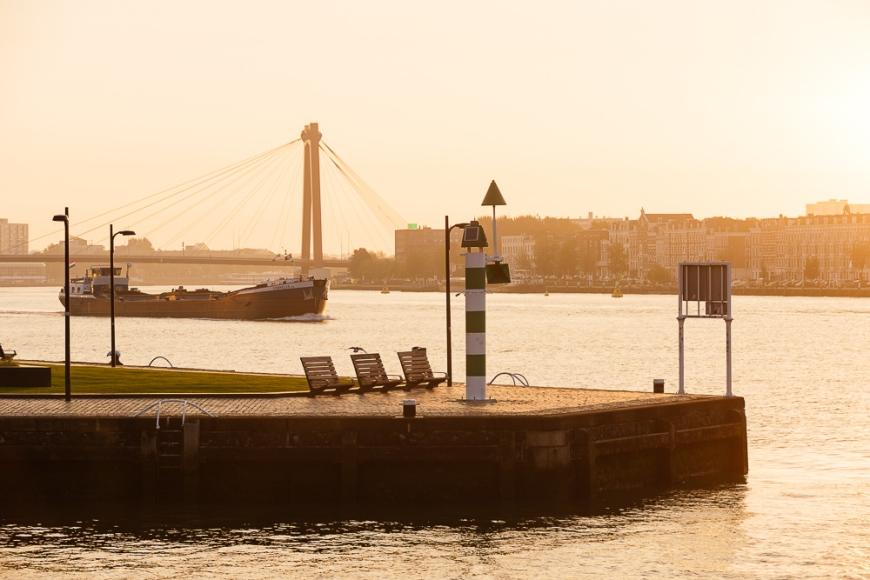 Willems Bridge & Nieuwe Maas River, Rotterdam, Netherlands
