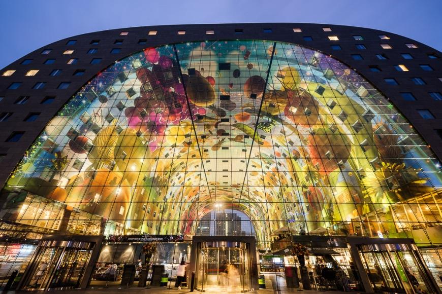 Exterior of Markthal, Westnieuwland, Rotterdam, Netherlands