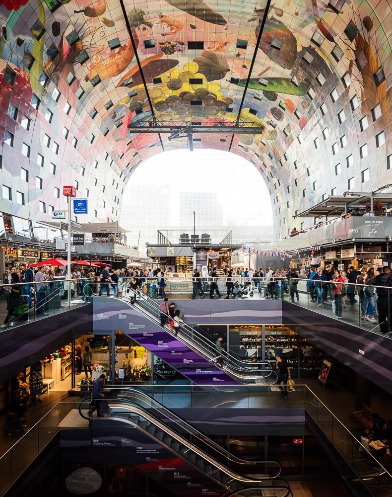 Interior of Markthal, Westnieuwland, Rotterdam, Netherlands