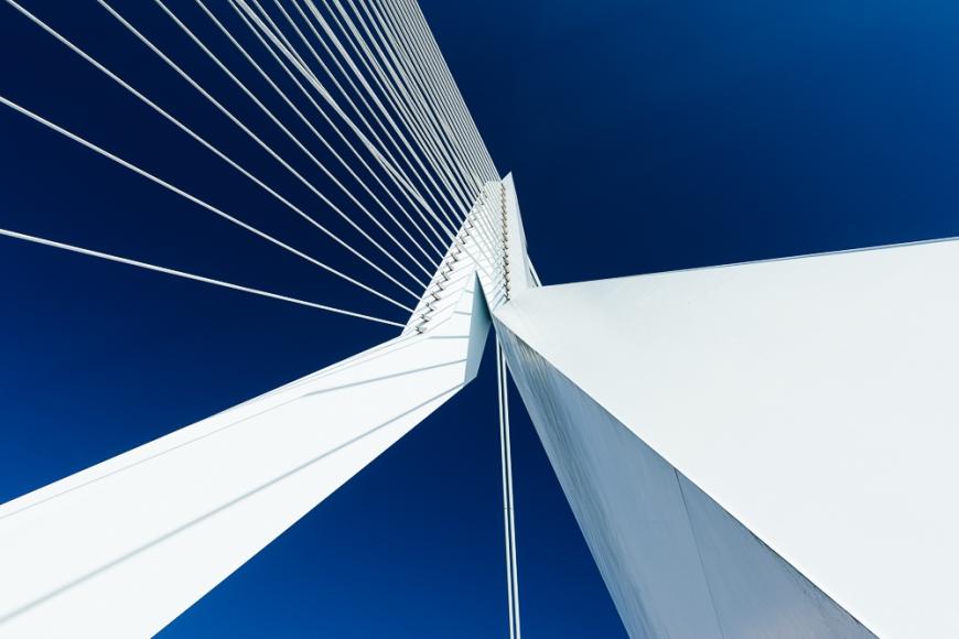 Erasmus Bridge, Wilhelminakade, Rotterdam, Netherlands