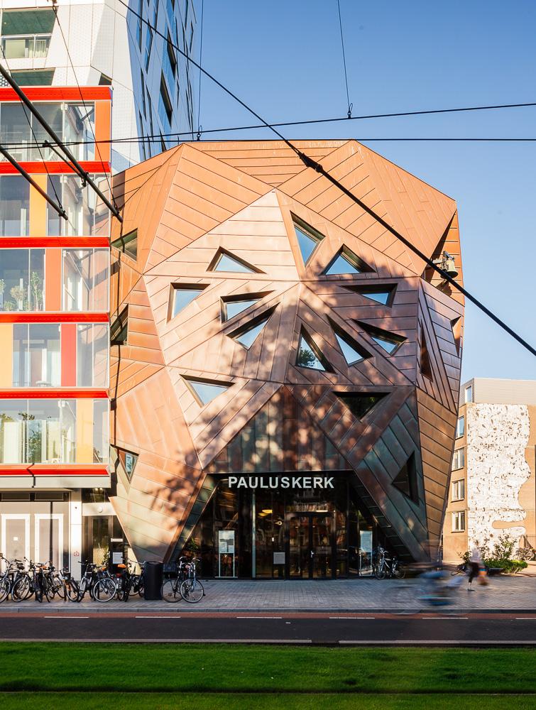 Exterior of Pauluskerk, Kruisplein, Rotterdam, Netherlands