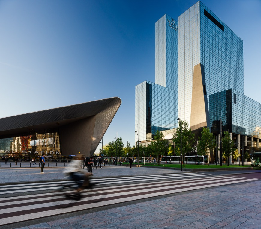 Exterior of Rotterdam Central Station & Delftse Poort, Rotterdam, Netherlands