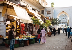 Street Scene in the Medina, Tangier, Morocco, North Africa