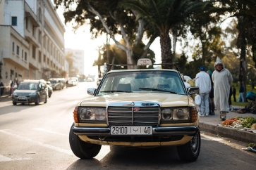 Vintage Mercedes Taxi in the Medina, Tangier, Morocco, North Africa
