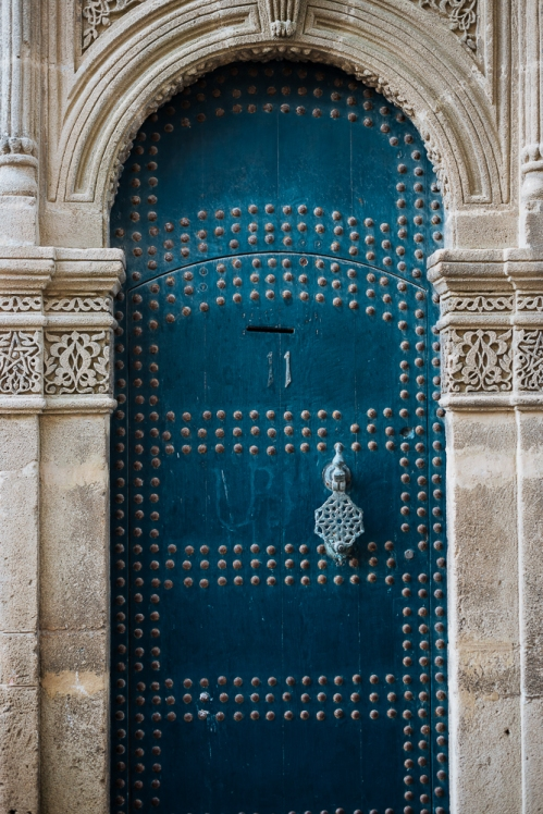 Doorway in the Kasbah, Medina, Tangier, Morocco, North Africa