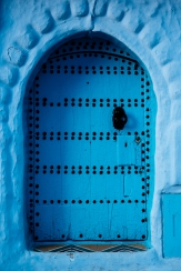 Traditional doorway in Chefchaouen, Morocco, North Africa