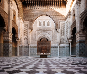 Interior of Al Attarine Madrasa, Fes, Morocco, North Africa