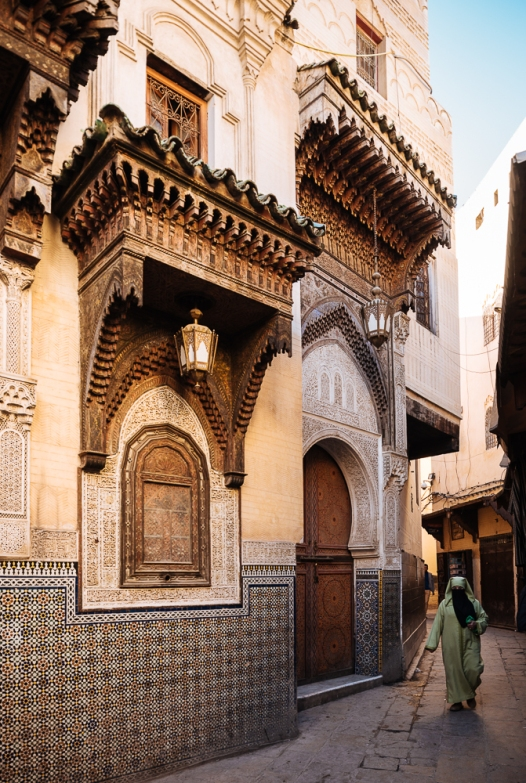 Fes el Bali (Old Fes), Medina, view near Sidi Ahmed Tijani , Fes, Morocco, North Africa