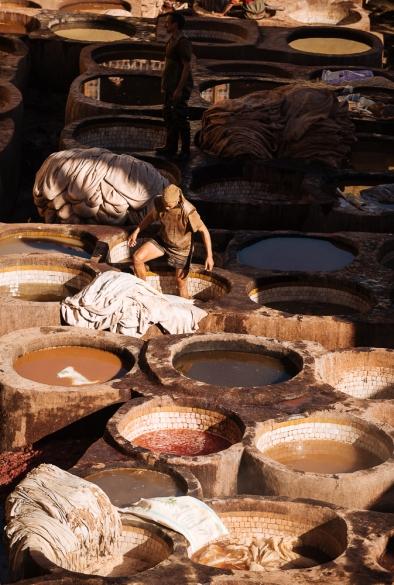 Chouara Tannery, Medina, Fes el Bali, Fes, Morocco, North Africa