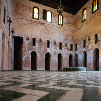 Interior of Madrasa Bou Inania, Meknes, Morocco, North Africa