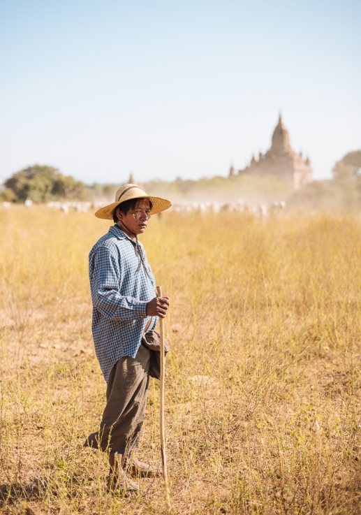 Portrait of Farmer, Bagan, Mandalay Region, Myanmar