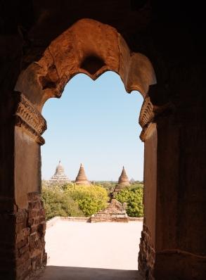 Temple Exterior, Bagan, Mandalay Region, Myanmar