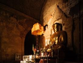 Interior of Temple, Bagan, Mandalay Region, Myanmar
