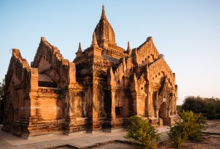 Deserted Temple at dusk, Bagan, Mandalay Region, Myanmar