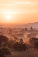 View of Temples at dawn, Bagan, Mandalay Region, Myanmar