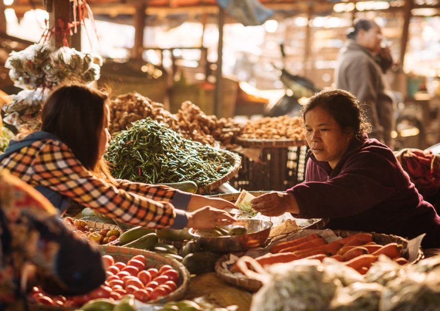 Hsipaw Morning Market, Hsipaw, Shan State, Myanmar, Asia