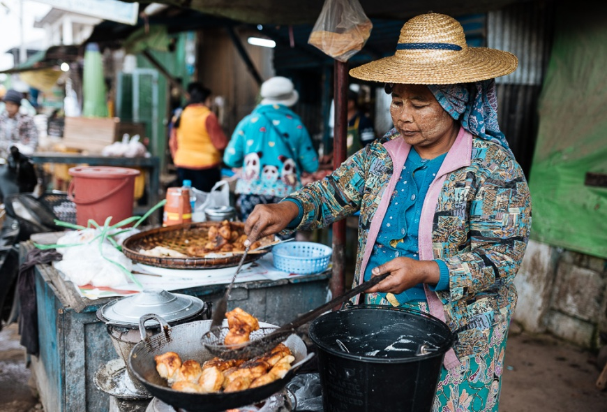Hsipaw Morning Market, Hsipaw, Shan State, Myanmar