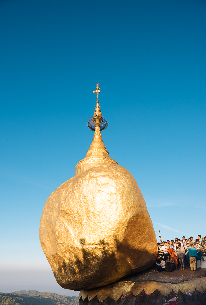 Mount Kyaiktiyo Golden Rock Myanmar dawn