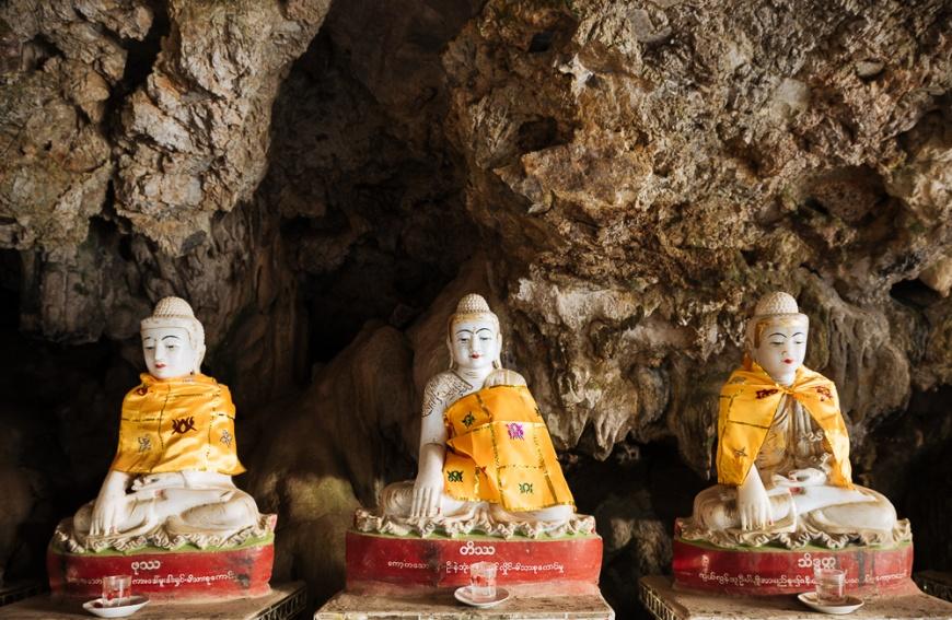 Kaw Ka Thawng Cave, Hpa-an, Kayin State. Myanmar, Asia